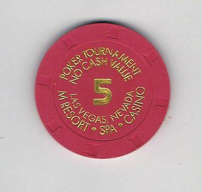 M Resort Las Vegas - $5 NCV Poker Casino Chip - 2009 H&C Mold - Book $75-$99