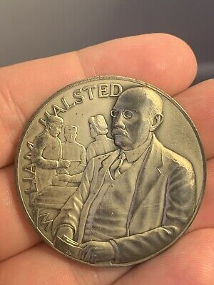 William Halstead .99 Fine Silver Medical Heritage Society Of Surgeon's Medal