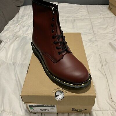 Dr martens 1460 8 Eye Leather boots cherry red rouge smooth men's size 12 US