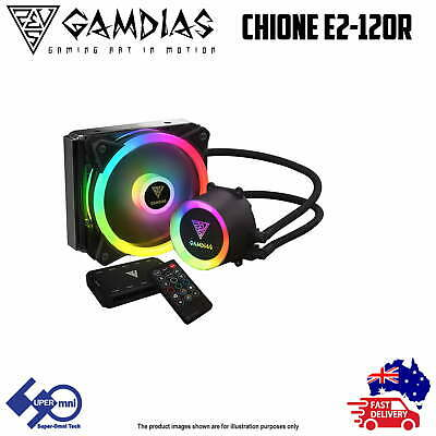 PC CPU Liquid Cooler 120mm Addressable RGB with controller Gamdias E2-120R