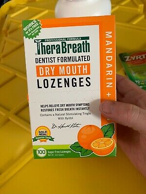 TheraBreath Mandarin Mint Dry Mouth Lozenges - 100 Count