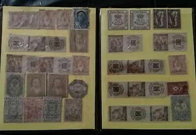 Post stamp old vintage collection  Small Album Worldwide  Four Pages lot of 72