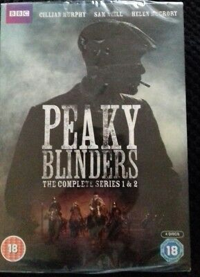 SEALED. NEW. Peaky Blinders - Series 1-2  with Cillian Murphy (DVD  2013)