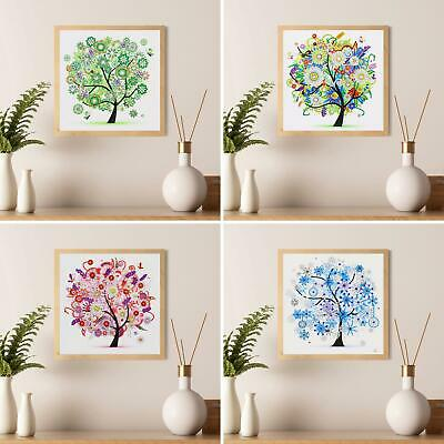 AU_ Colorful Tree Cross Stitch DIY Partial Multi-shaped Diamond Painting Eyeful