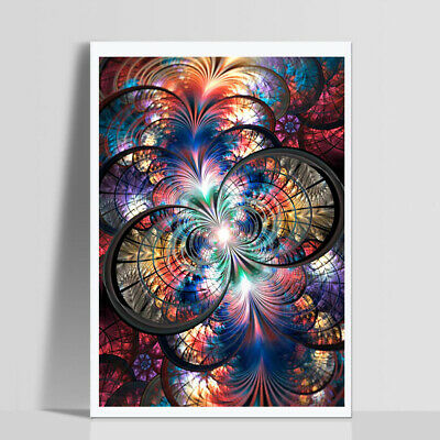 AU_ ITS- 30x40cm Colorful Circle Dazzling Cross Stitch DIY Full Diamond Painting