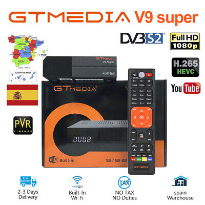 Original gtmedia v9 super DVB-S2 Satellite  Receiver Built-in Wifi Full HD 1080P