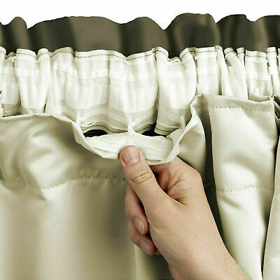 Pencil Pleat Blackout Thermal Curtain Linings Ready Made 3 Pass Lining Tape Top