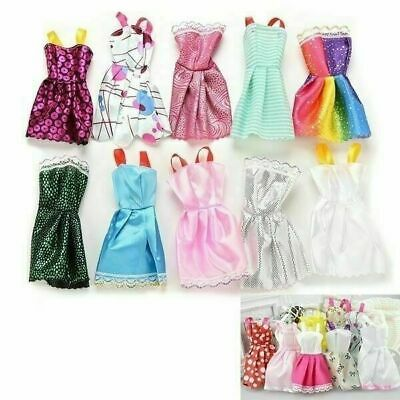 10x Party Dresses Clothes Gown For Barbie Dolls Toys Girl's Accessories Gifts AU