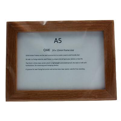 Real Solid Timber Oak Wood Picture/ Photo Frame A5 Handmade UK
