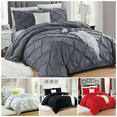Duvet Cover Bedding Set With Pillow Case Quilt Cover Single Double King All Size