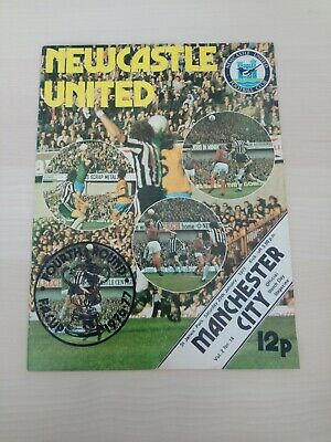 NEWCASTLE UNITED - MANCHESTER CITY - FOOTBALL PROGRAMME - FA CUP 4th ROUND 1977