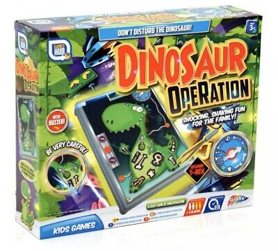 Dinosaur T-Rex Operation Kids Buzzer Steady Hand Family Board Game Xmas Gift Toy
