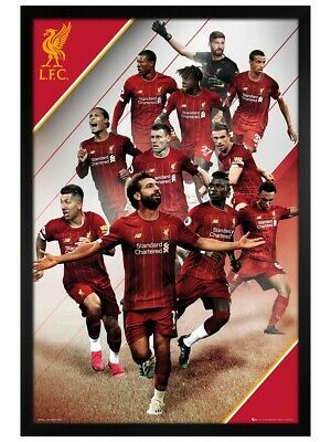 Liverpool FC Poster Black Wooden Framed Liverpool Players 19-20 LFC 61x91.5cm