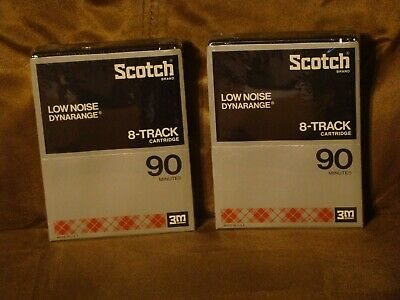Lot Of 2 New Sealed 8-Track Tape Cartridges 3M Scotch Dynarange Low Noise 90 Min