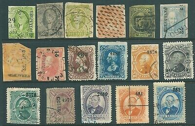 MEXICO early used stamp & postmark collection