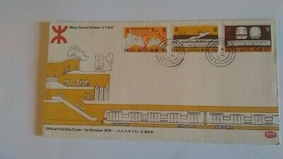 Hong Kong 1 Oct 1979 Mass Transit Railway Illustrated First Day Cover