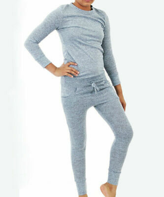 Girls Blue stipple 2-Piece Lounge Wear Tracksuit Jogging Bottoms Top age 7/8 yrs