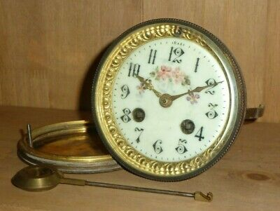 French A D Mougin striking clock movement for spares