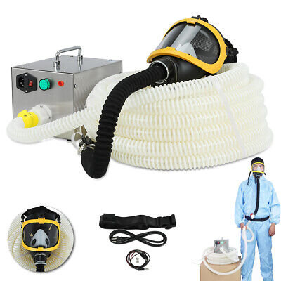 Constant Flow Airline Supplied Fresh Air Respirator System Full Face Gas Mask