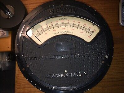 VINTAGE Weston Electrical Instrument Co Voltmeter Model 57 0-24v, 0 - 480 milamp