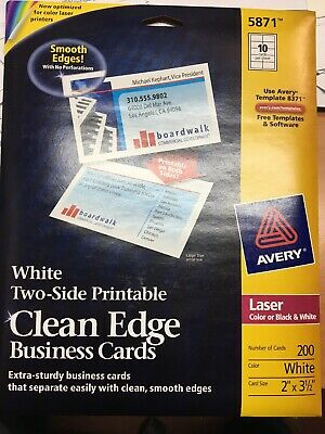 White Two-Side Printable Clean Edge Business Card 5871