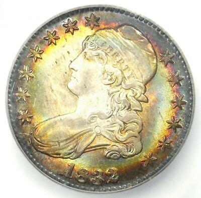1832 Capped Bust Half Dollar 50C. Certified ICG MS67+ Plus Grade - Rainbow Tone!
