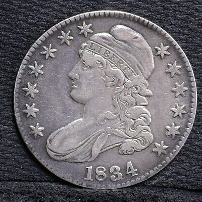 1834 Bust Half Dollar - Large Date, Large Letters - XF (#27180)