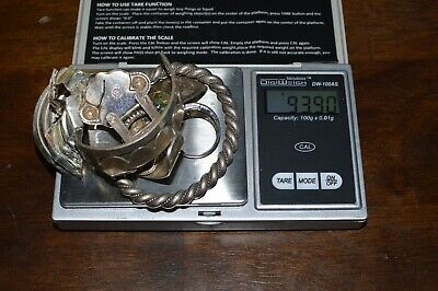 Scrap silver mixed sterling jewelry-                           93.90 grams-