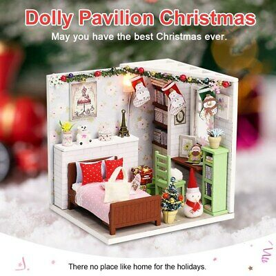 Handmade Doll House Furniture Kit DIY Mini Dollhouse Wooden Toy Manual DI