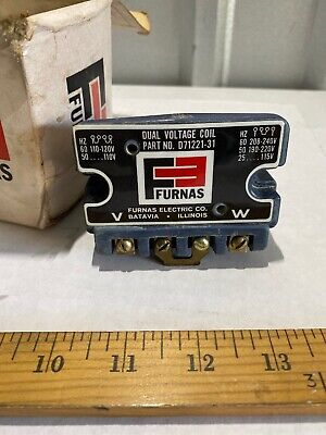 NEW Furnas 46FBE12 46ZB E12 Industrial Control Relay Base w//Operating Coil