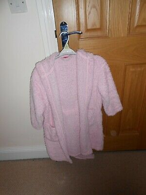Next Pink Fluffy Dressing Gown Age 8 Yrs
