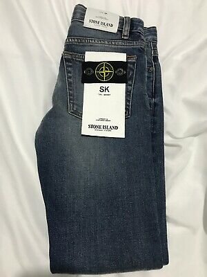 Stone Island Junior Age 8 Skinny Fit Jeans (100% Authentic) BNWT