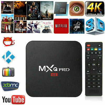 MXQ Pro 4K 2GB+16GB Ultra HD Android 7.1 Smart TV Media Box WiFi Quad Core S905W