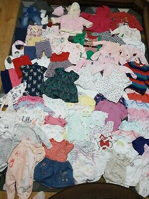 Huge Bundle Of Baby Girl Clothes 0-3-6months #724 GEORGE NEXT MINNIE F&F XMAS