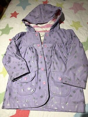 Hatley Raincoat Lilac Silver Stars Girl 4-5 Years