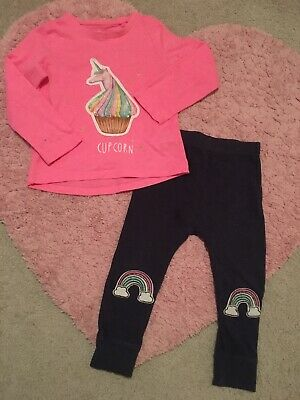 Next Girls Top And Leggings Outfit Age 2-3