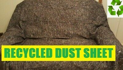 2 x QUALITY RECYCLED HEAVY DUTY COTTON MIX DUST SHEETS ECO FRIENDLY