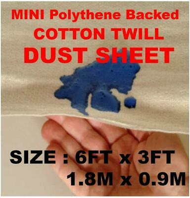 10 X Poly Backed Laminated 100% Waterproof 6Ft X 3Ft Cotton Dust Sheets