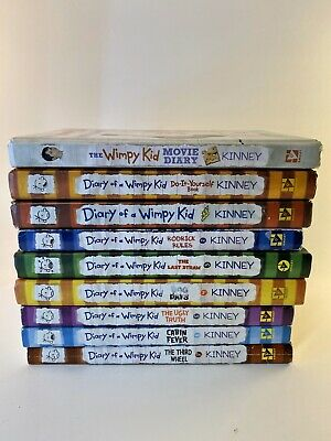 *Lot of 9 Diary Of A Wimpy Kid Books *