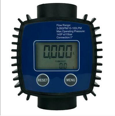 482131 Digital Pump Flow Meter Fuel Diesel Kerosene Line Pipe Counter