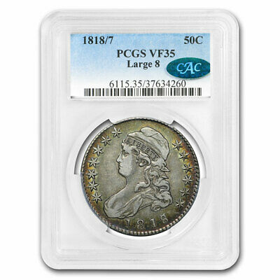 1818/7 Capped Bust Half Dollar VF-35 PCGS (Large 8)(CAC) - SKU#202190