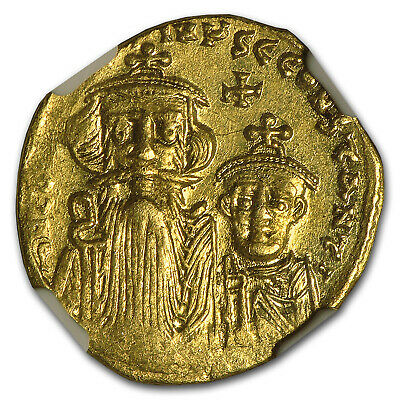 Byzantine Gold Constans II, Constant. IV (654-668 AD) MS NGC - SKU #94683
