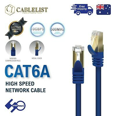 Network Cable Cat6A UTP 24AWG 10Gbps Pure Copper Oxygen Free 0.5m 1m 2m 5m 10m