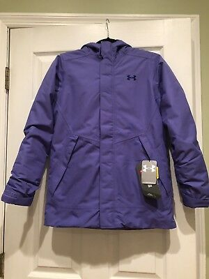 Brand New Under Armour girls YLG Jacket Purple