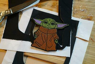 Baby Yoda Mandalorian Meme Star Wars Inspired, Gift Idea Embroidered Patch