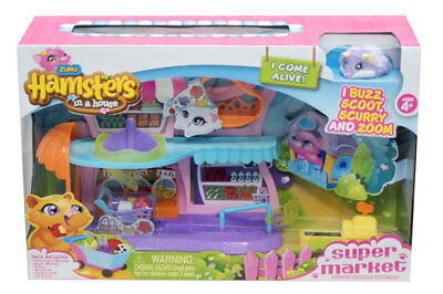 Zuru Hamsters in a House Supermarket Set include Collectable Hamster Play Toys