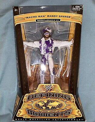 WWE Mattel Elite Defining Moments Macho Man Randy Savage Figure, Flashback, WWF