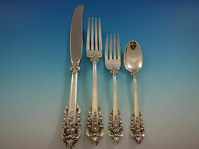 Grande Baroque by Wallace Sterling Silver Regular Place Setting(s) 4pc Flatware