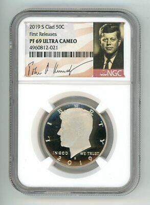 2019 S Clad Kennedy Half Dollar 50C Ngc Pf 69 First Releases 4960812-021