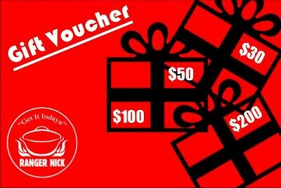 Ranger Nick Gift Voucher - $100.00 value for the Outdoor Enthusiast